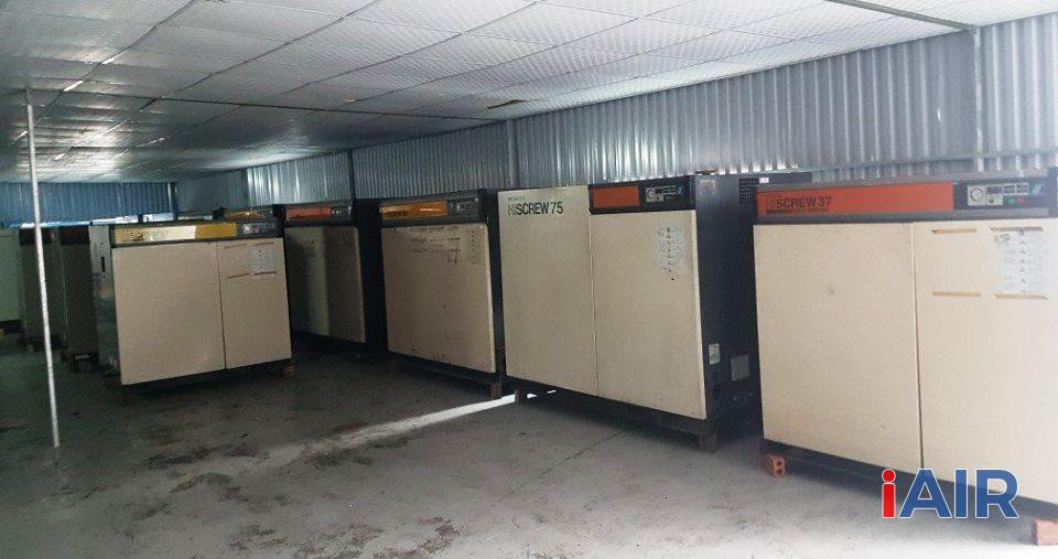 Kho máy nén khí cũ giá tốt tại Hà Nội