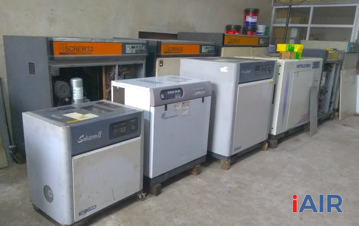 Kho bán máy nén khí cũ tại Hà Nội uy tín