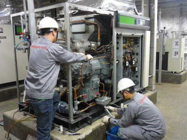 Bảo dưỡng máy nén khí Hitachi không dầu